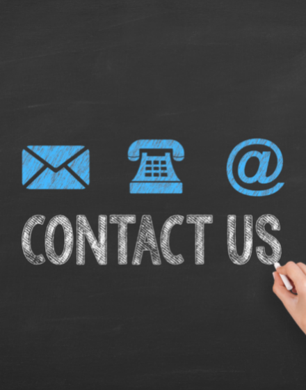 Contact us via email, phone and social media.