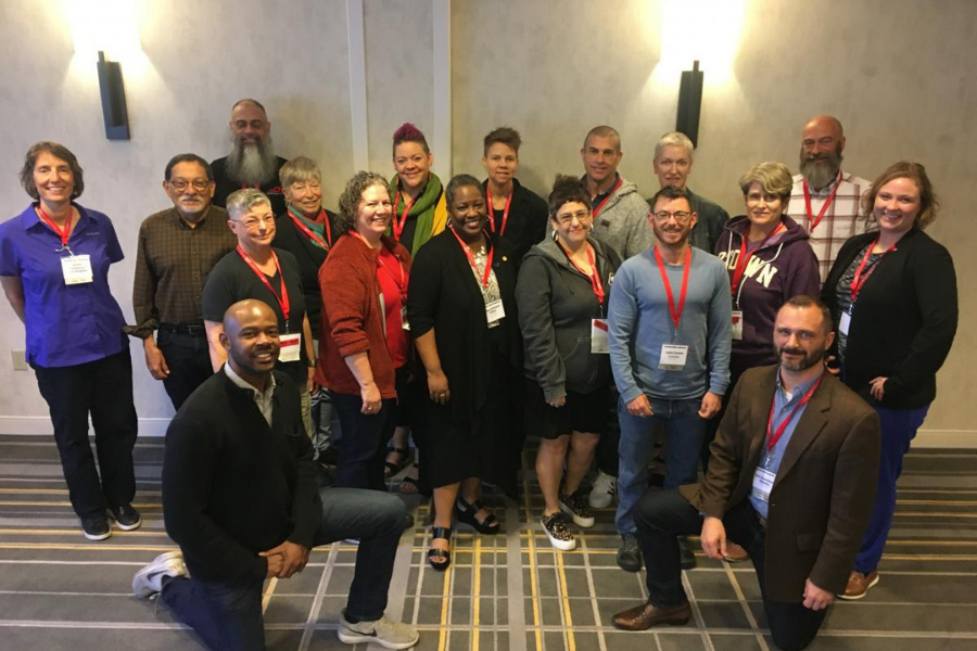 LGBTQIA+ Caucus members at the Equity Conference 2020.