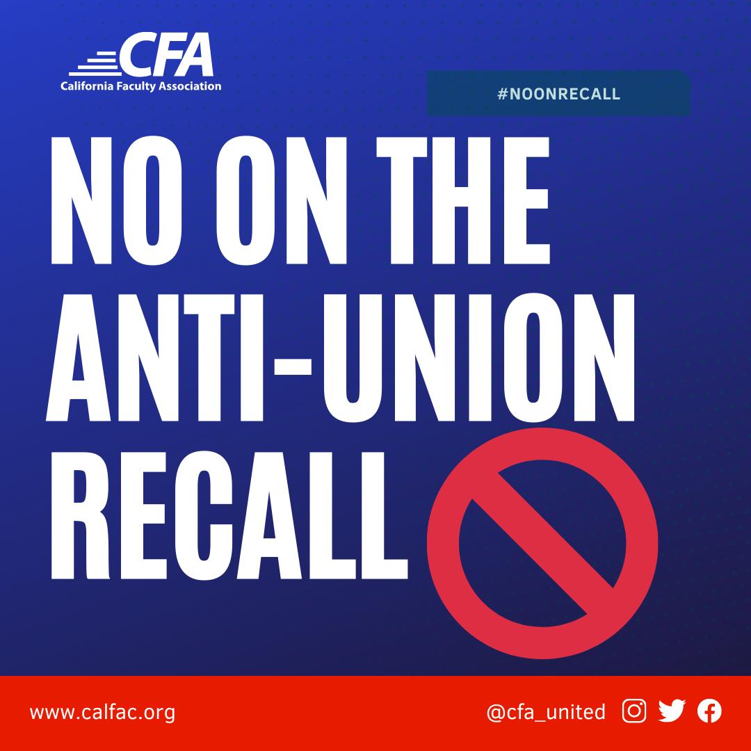 No on the Anti-Union Recall