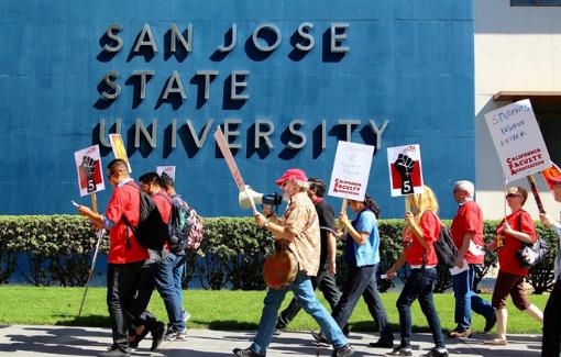 CFA San José members rally for students.