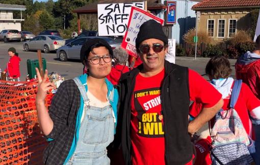 CFA Humboldt members and students rally.
