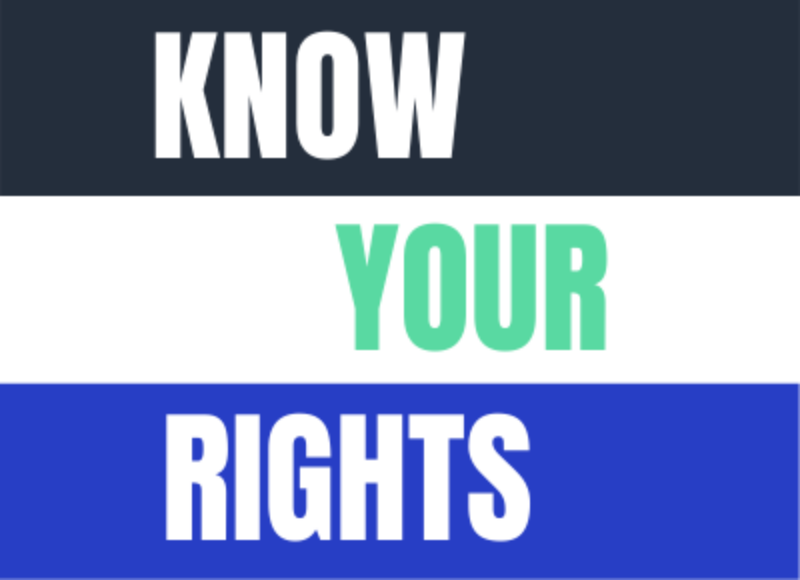 Know your Rights graphic with text