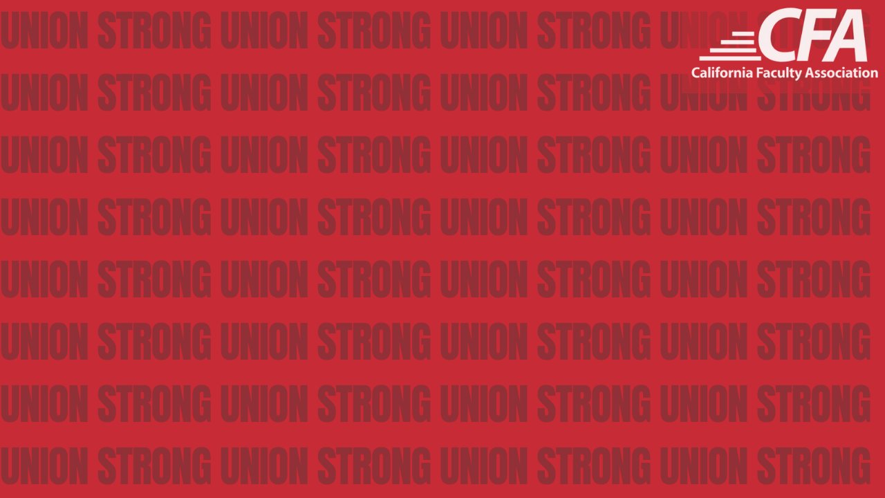 Image with union strong text