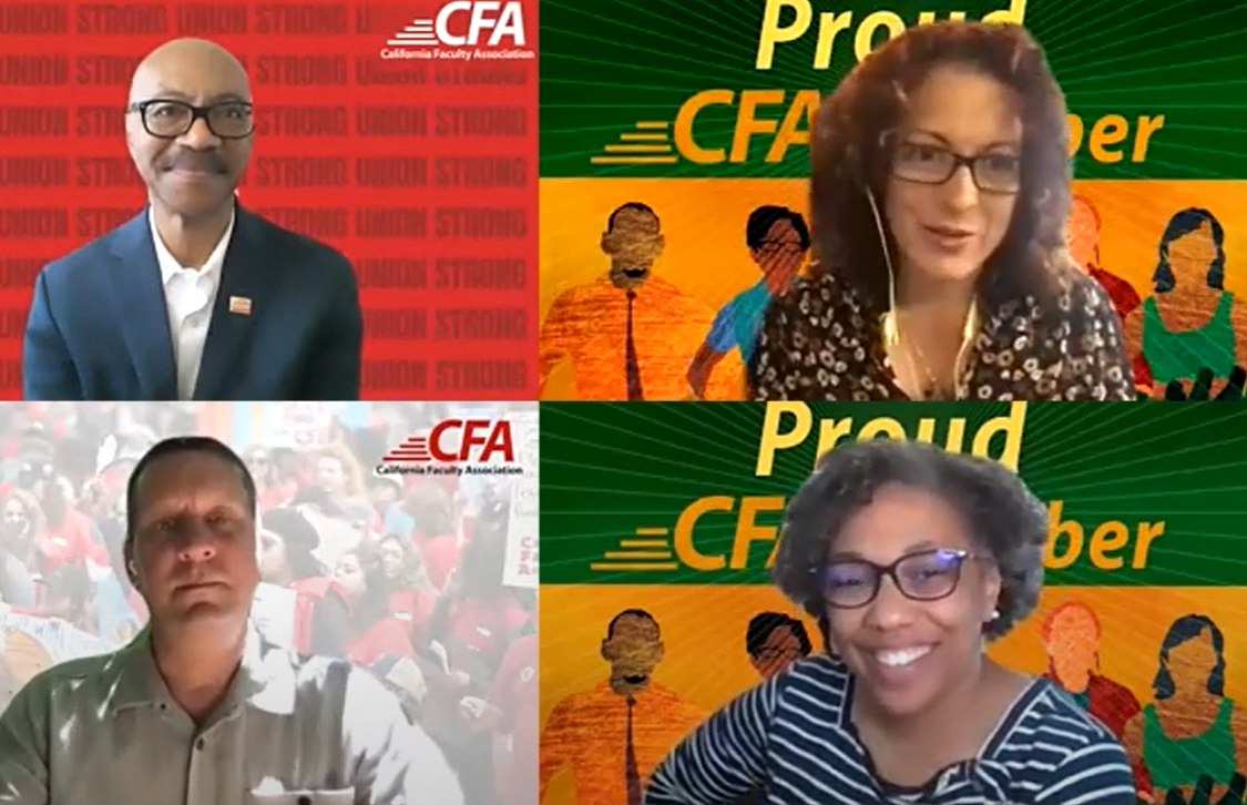 CFA members on a zoom call
