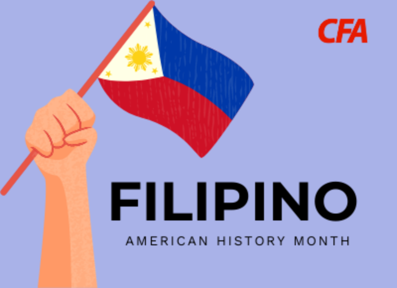 Image with text for Filipino American Heritage Month