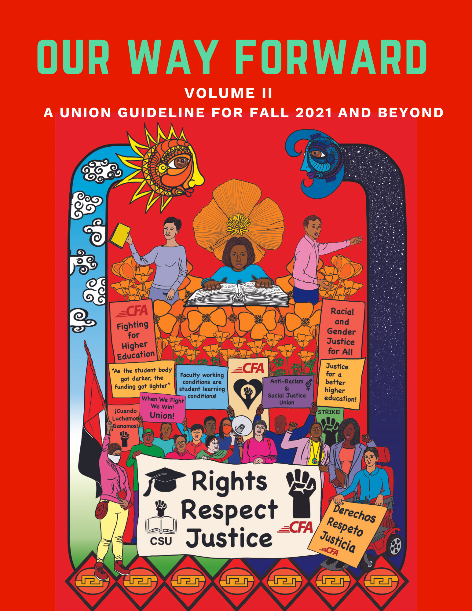 Cover photo for CFA's second edition of Our Way Forward, a union guideline for Fall 2021 and beyond.